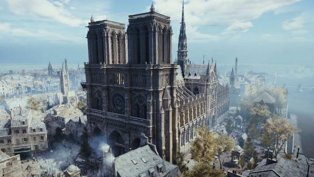巴黎圣母院烧毁后,你可能只能在这款游戏中看到它的全貌了……