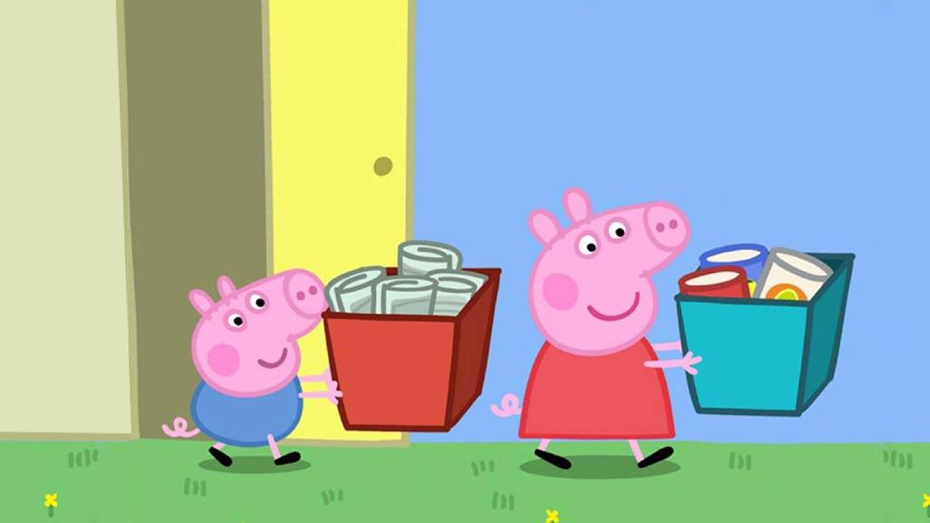 不知垃圾该如何分类?小猪佩奇来教你!🗑️