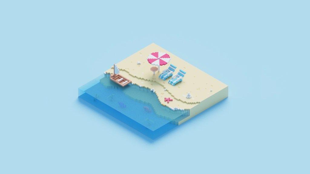 欢乐的海浪冲上沙滩,Summer Vibe充满夏日元气!🌊