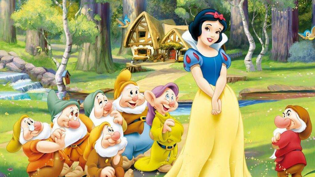 白雪公主法语版片段:帮七个小矮人打扫房间